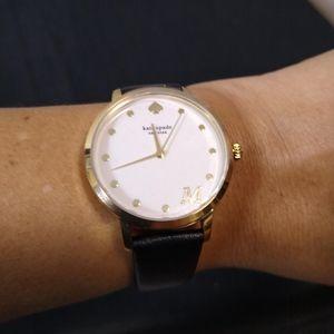 "Kate Spade NY Metro Monogram ""M"" Initial Watch"